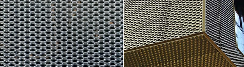 Decorative Aluminum Expanded Metal Mesh For Ceiling And External Architectural Decoration