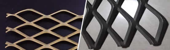 Copper Diamond Mesh for Architectural Design