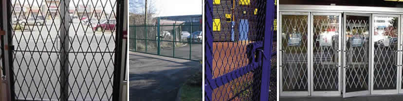 Expanded Security Gate Type Fencing Panels