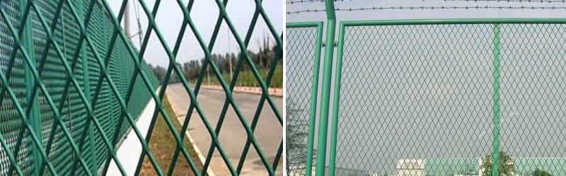 Galvanized Expanded Steel Security Fencing for Perimeter and